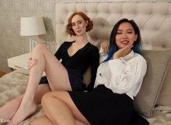 8muses duas coroas lésbicas se pegando gostoso em cima da cama