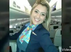 Caiu na net comissaria de bordo da Azul linhas aéreas